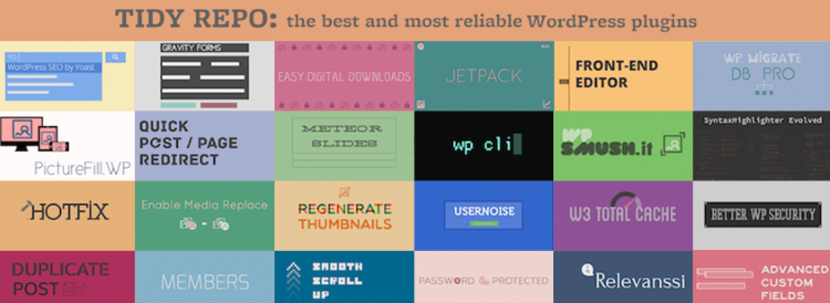 tidy repo wordpress plugins banner logo